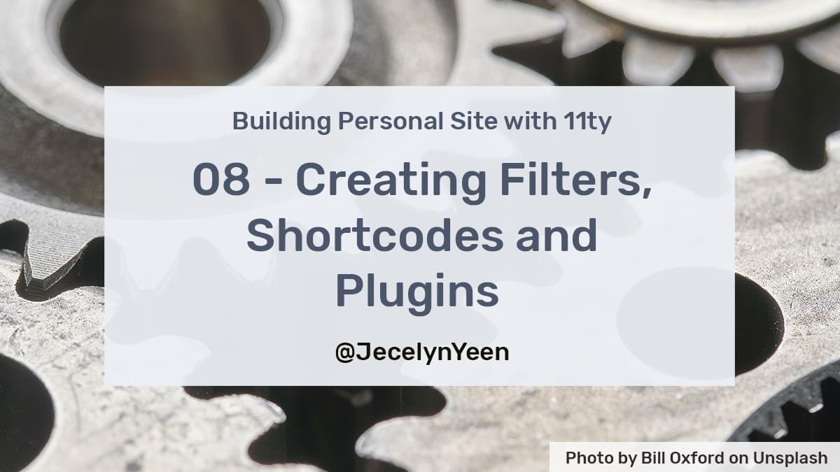Creating Filters, Shortcodes and Plugins