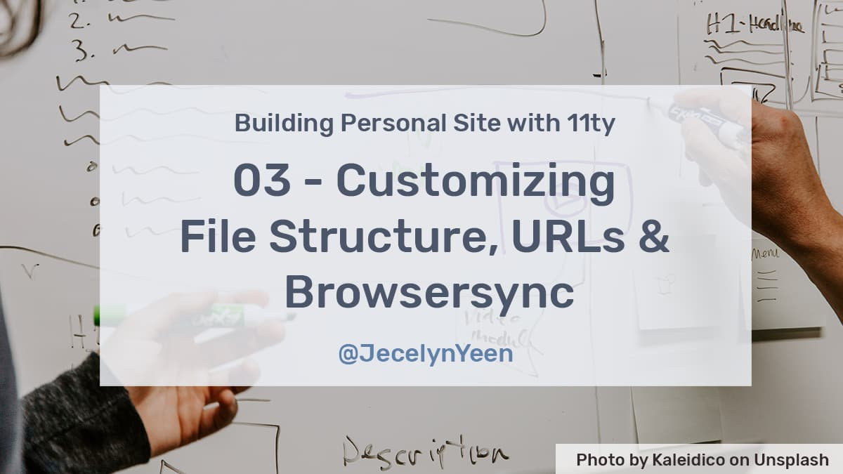 Customizing File Structure, URLs and Browsersync