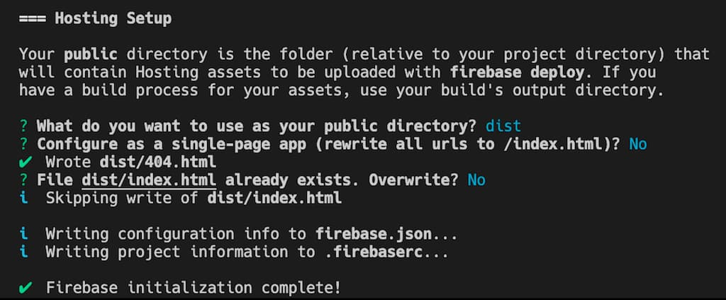 Firebase prompts