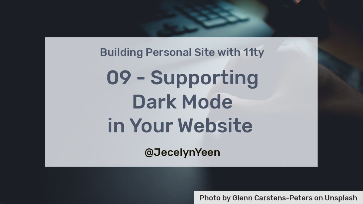 Supporting Dark Mode in Your Website