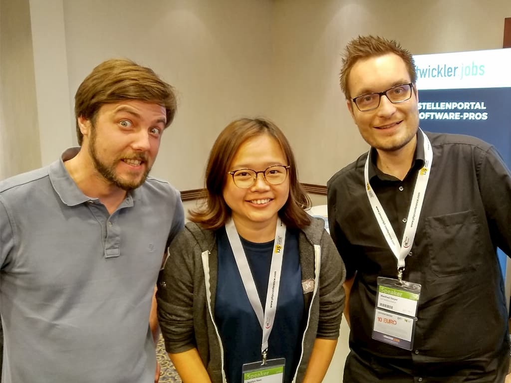 Two Austrians and one Malaysian - Manfred, Michael and me.